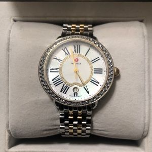 Michele serine 16 MID Diamond two tone gold watch